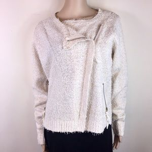 Ethereal by Paper Crane Ivory Sweater Jacket
